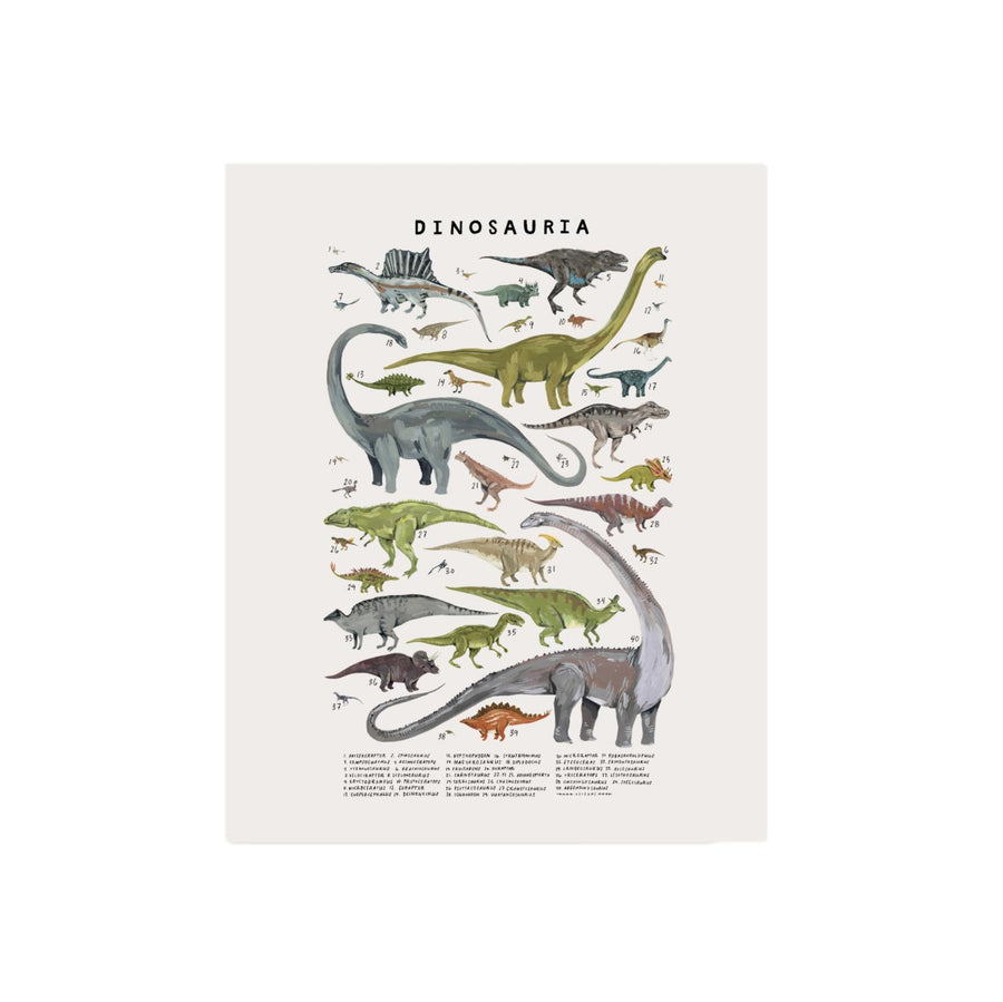 Extinct Creatures of the Clade Dinosauria Art Print - 8x10
