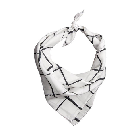 Windowpane SilkNeckerchief