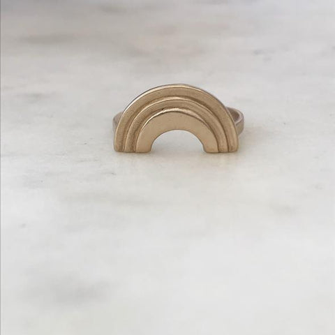 Rainbow Ring in Bronze