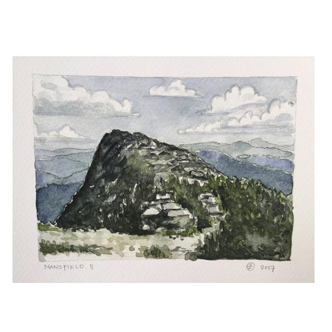 Mansfield II Watercolor Print