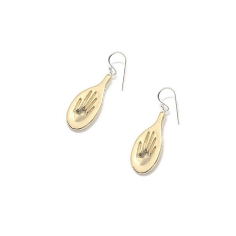 Brass Palmata Earrings