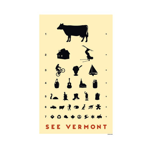 See Vermont Eye Chart Poster