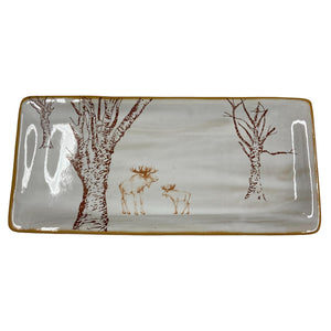 Moose and the Trees Ceramic Tray - PICKUP ONLY