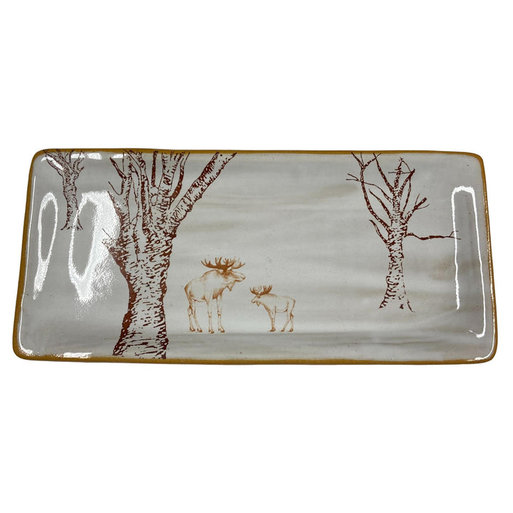 Moose and the Trees Ceramic Tray - FINAL SALE