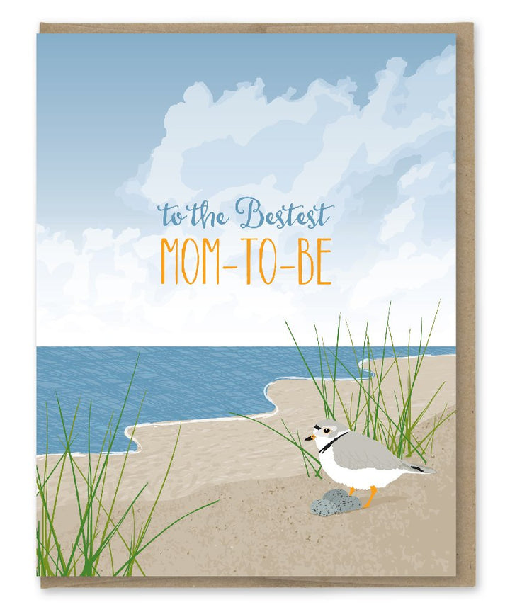 Mom - to - Be Bird on the Beach Card - MP4