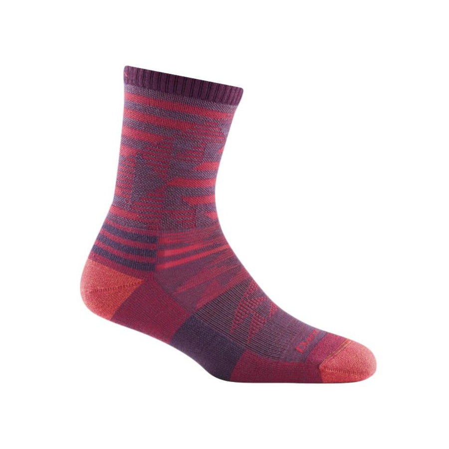 Women's Merino Wool Ceres Micro Crew Light Sock Plum