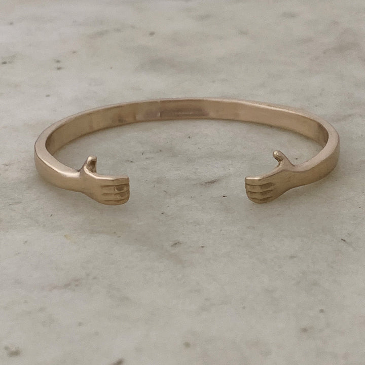Hug Cuff Bangle Bronze