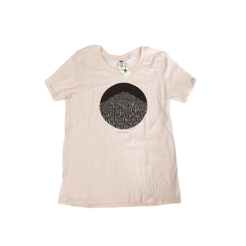 Born in the Vermont Woods Tee - Light Rose