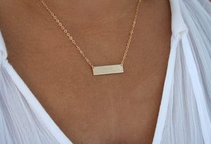 Mt Mansfield Bar Necklace