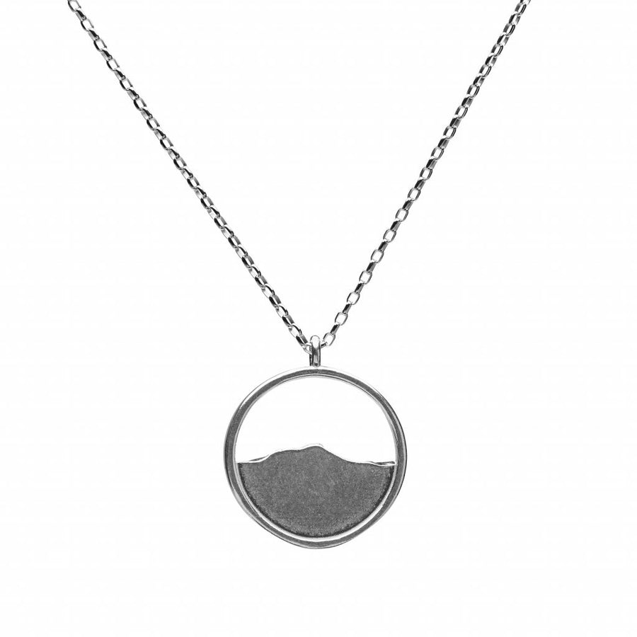 Camel's Hump Circle Silver Necklace