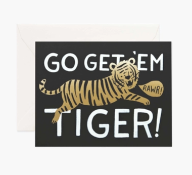 Go Get 'Em Tiger Black and Gold Card - RP4