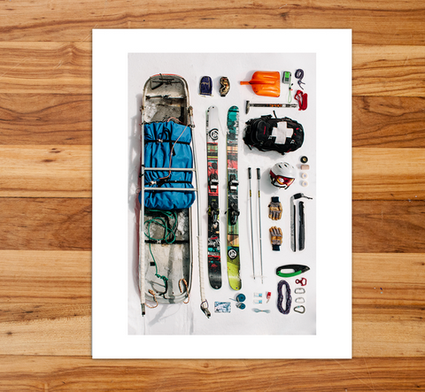 Ski Patrol Art Photo Print