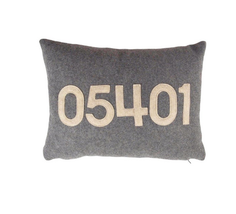 Burlington Zip Code Pillow