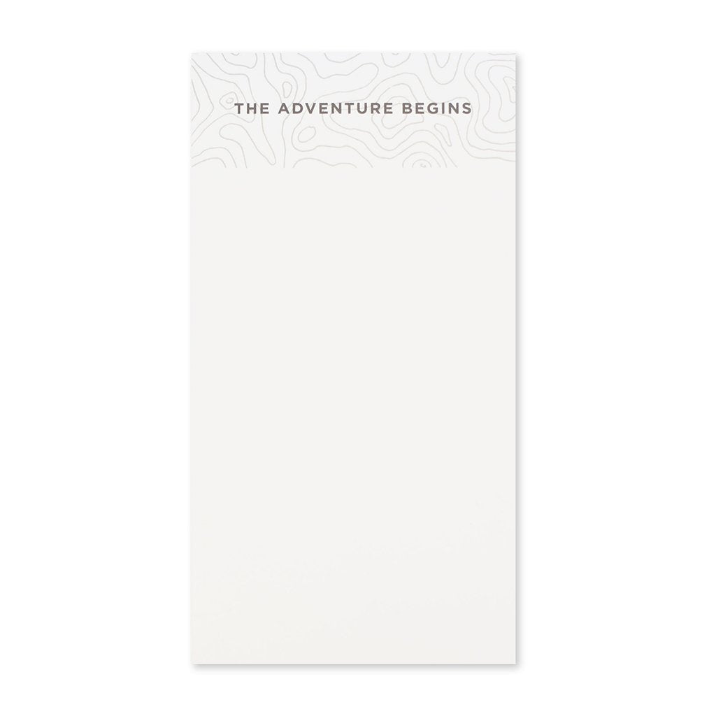 The Adventure Begins Notepad