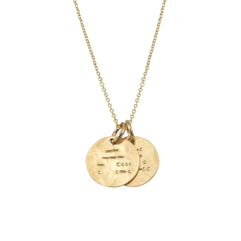 "Gold Fill Morse Code ""Mother"" Necklace"