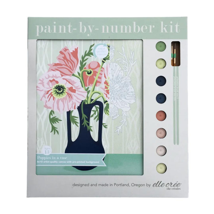 Paint by Numbers Kit - Poppies in Vase