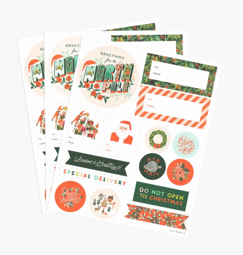 Pack of Holiday Stickers