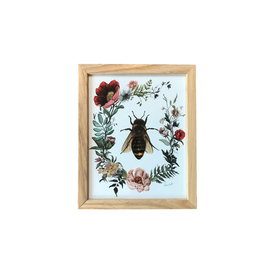 "This is Vermont Print Series 4 - ""Honey Bee In Bloom"" 8 x 10"