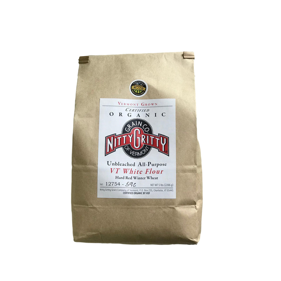 Nitty Gritty Organic All Purpose White Flour 5 Lb Bag