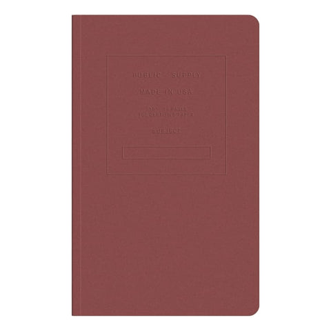Embossed Dot Grid Notebook- Red Brick