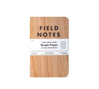 Field Notes Cherry Wood Graph Notebooks