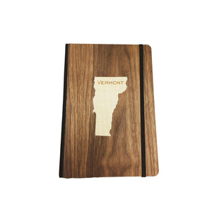 Wooden Vermont Inlay Notebook