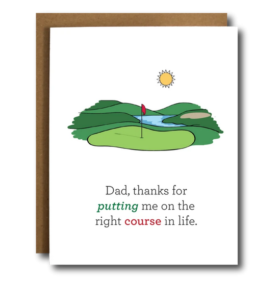 Father's Day Golf Pun Card - CB7