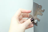 Silver Hedgehog Pocket Comb Multitool
