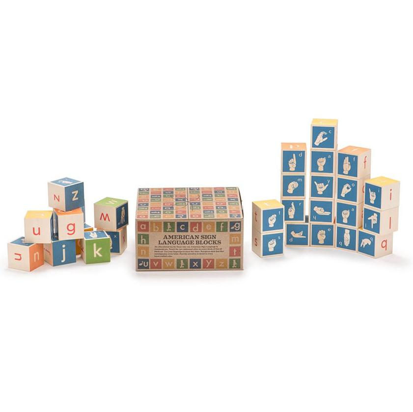 American Sign Language ABC Blocks