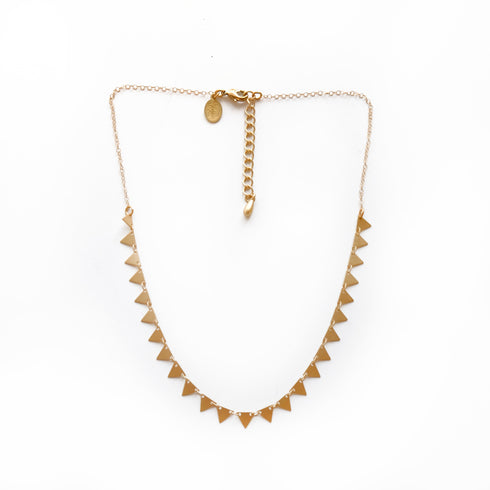 Candra Necklace Brass