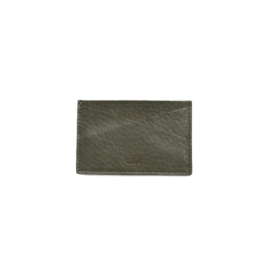 Leather Card Case - Military Green
