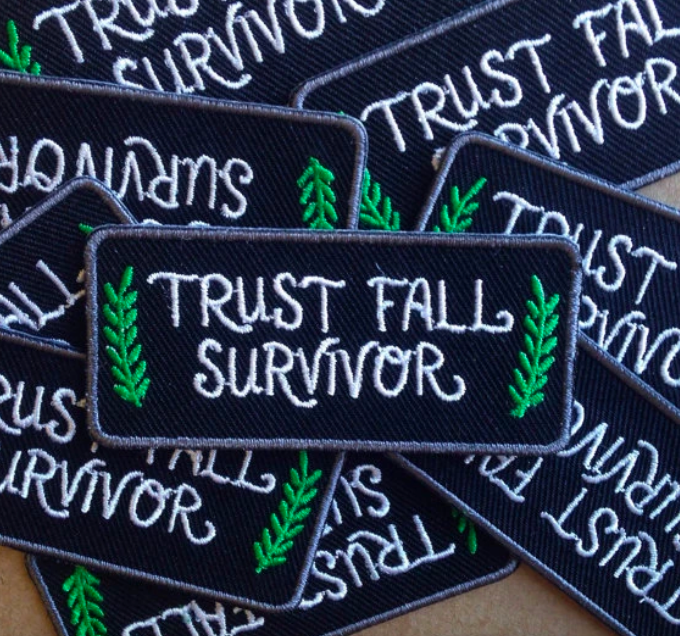 Trust Fall Survivor Iron-On Patch