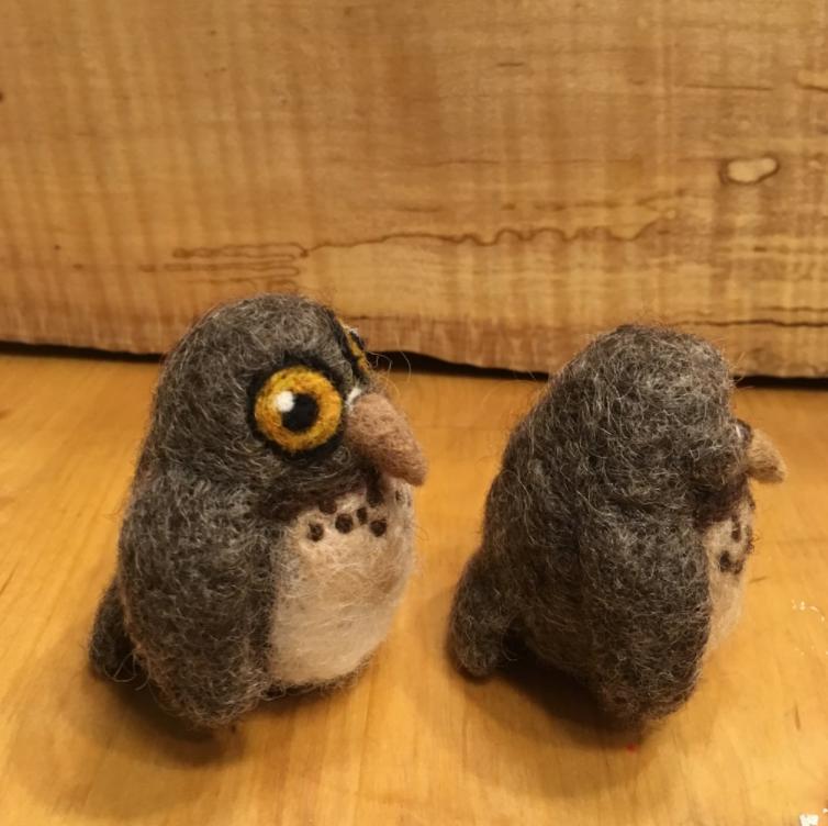 Screech Owl Babies DIY Felting Kit