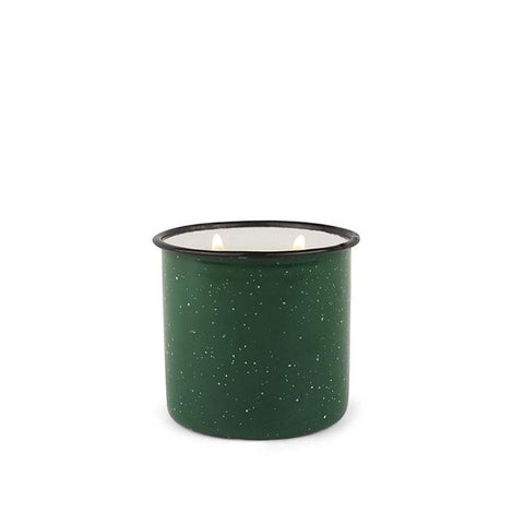 Evergreen and Embers Alpine Enamel Cup Candle