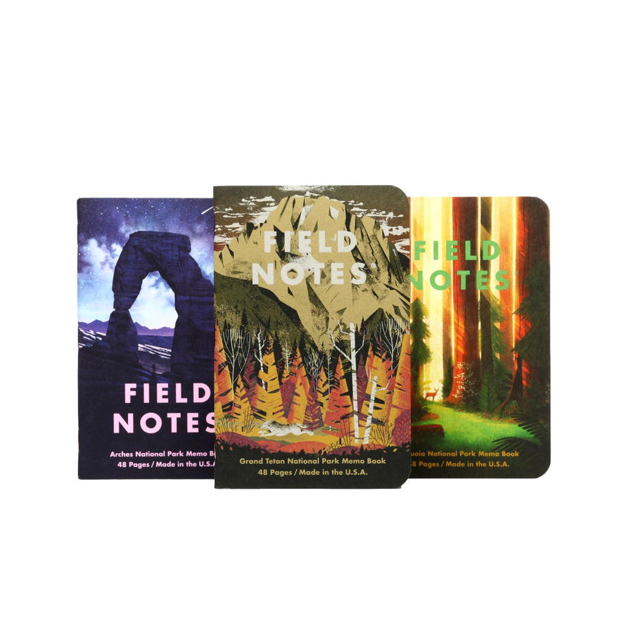 Field Notes National Parks Series D - Grand Teton, Arches, Sequoia