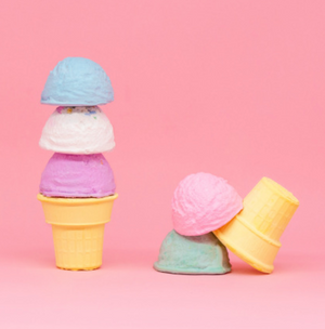 Ice Cream Three Scoops Sidewalk Chalk - Pink