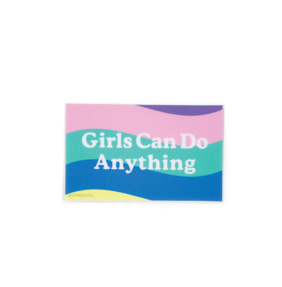 Girls Can Do Anything Flag Sticker