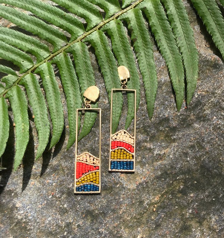 Beaded Hillside Earrings