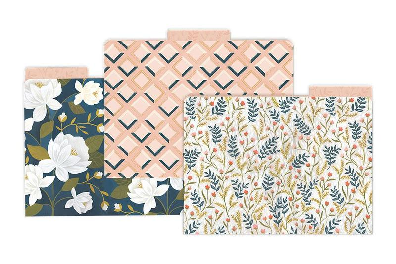 Floral File Folders Set of 6