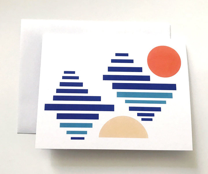 Abstract Sunset Card - CD2