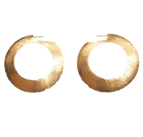 Handmade Lioness Hoop Earrings