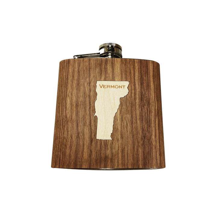 Wooden Flask - Vermont State Inlay