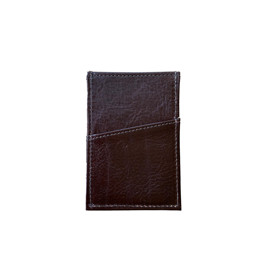 Minimalist Leather Wallet - Brown