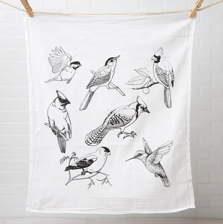 Flour Sack Tea Towel - Birds