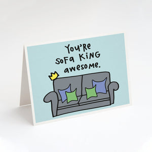 You're Sofa King Awesome Card - TG1