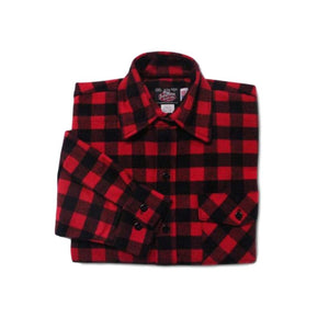 Red and Black Plaid Men's Flannel Shirt