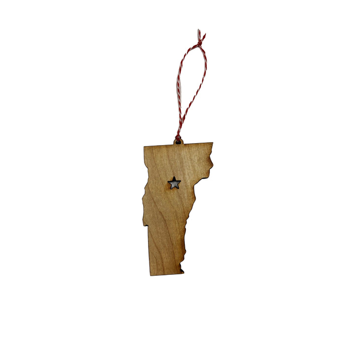Star Vermont Wooden Ornament