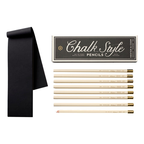 Chalk Style Pencil and Notepad Set