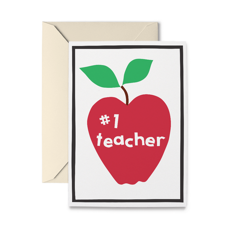 Number One Teacher Apple Card - RN1