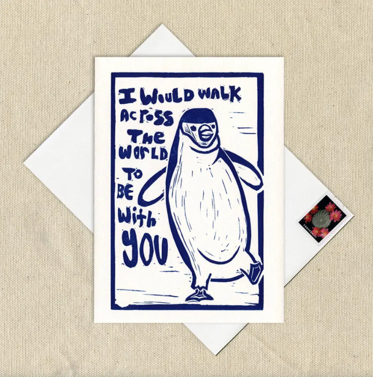 Walk Across The World Penguin Card - WW1